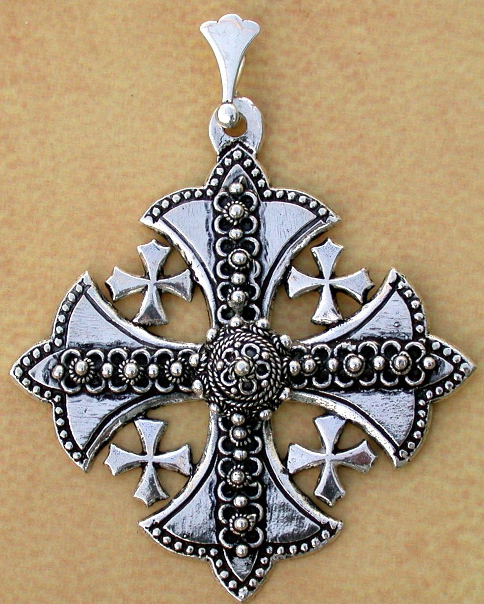 Creations cs12 silver jerusalem cross aloadofball Images