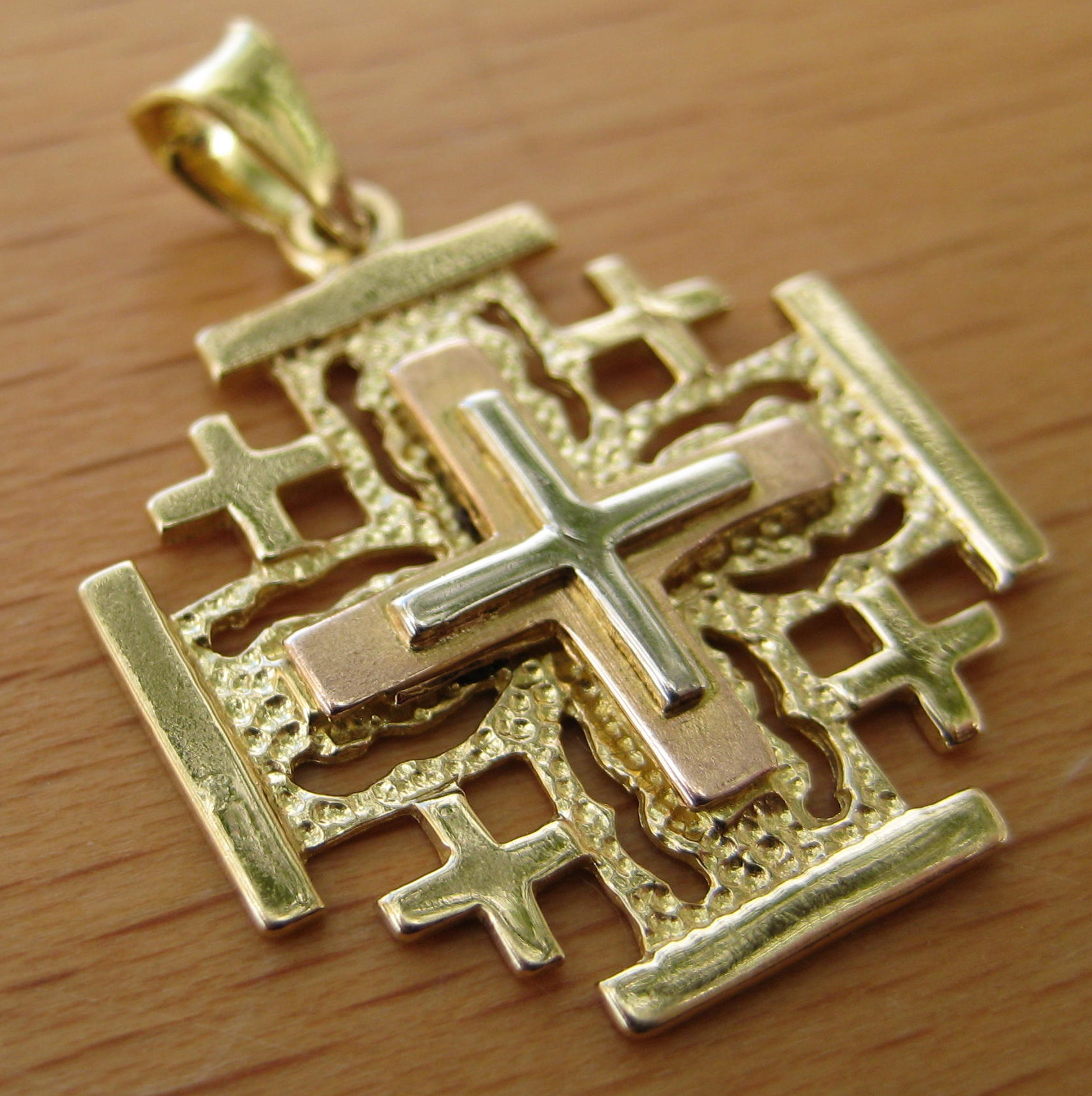 creations jerusalem cross pendant